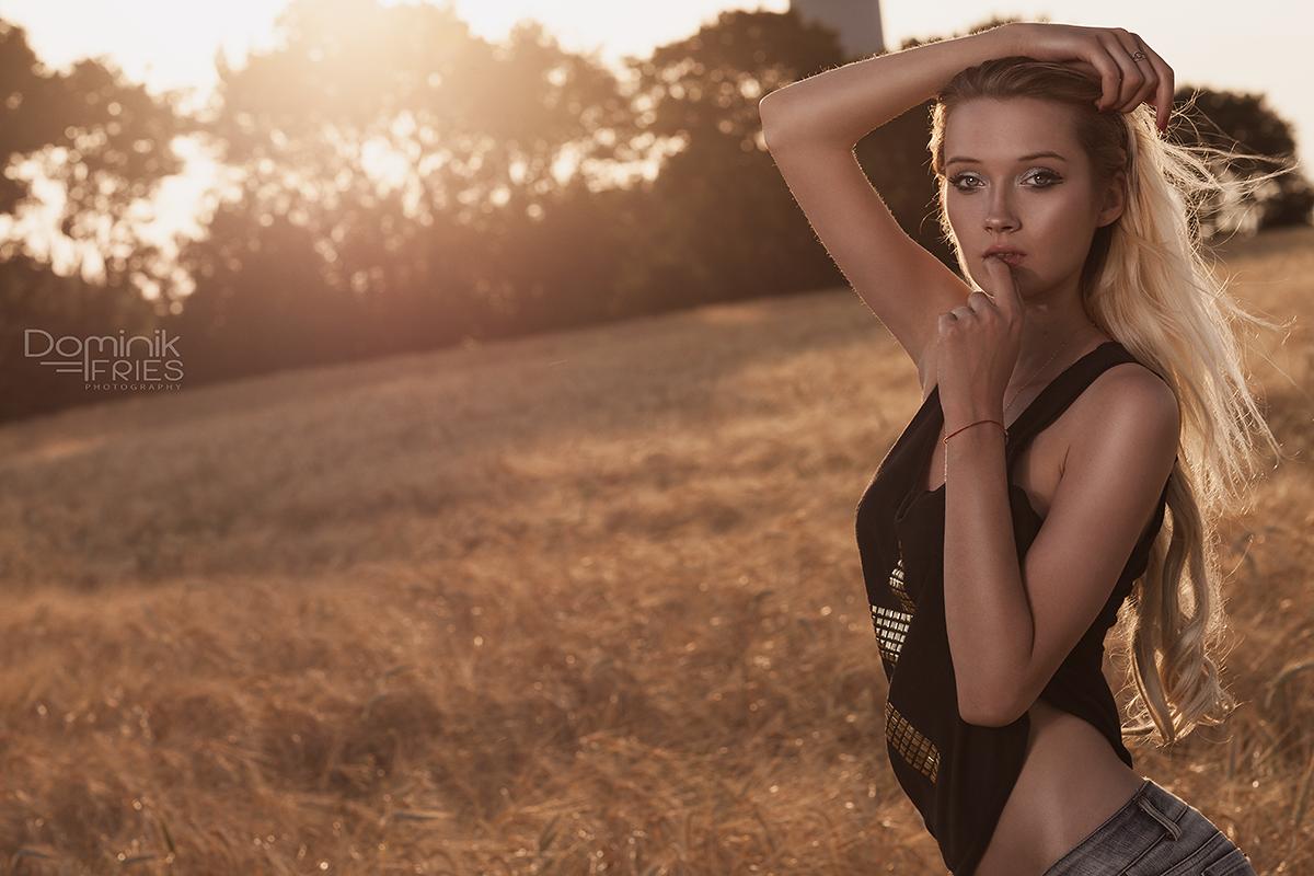 Gegenlicht Portrait mit Model Elena aus Trier