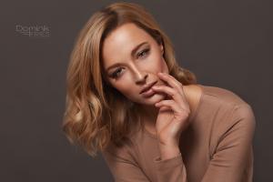 Dana from Wuppertal in a beauty studio shoot